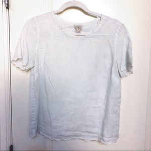J.Crew white blouse size 4